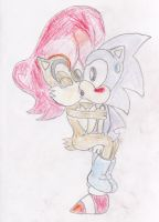 Sally's French Kiss attacks Sonic! by ClassicSonicSatAm