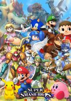 Super Smash Bros Wii U 3DS cover by SuperSaiyanCrash