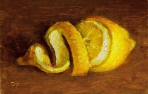 Postcard painting: lemon by josvanr