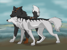 Strongpaw and Greysnow: Trade by Insanity-wolf