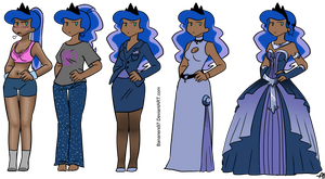 Princess Luna Outfits by Bananers97