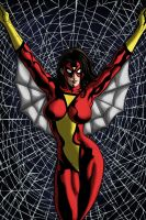 Spiderwoman by LiamShalloo