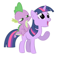 Twilight and Spike Trace by shadowdark3