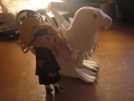 Deidara and his clay bird by moo-moo-sama