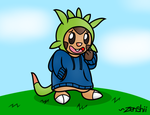 Art Gift: Chillie The Chespin! by Zenshii