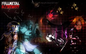 wallpaper full metal alchemist by maxyxm