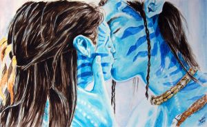 Jake and Neytiri by PeagreenPetticoat