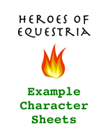 Example Character Sheets by TorturedArtist745