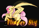 #006 Daily Pone FlutterShy by Phoeberia