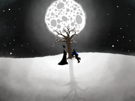 Meeting in the Cold, Moonlit Night [RotG Fanart] by ameneko98