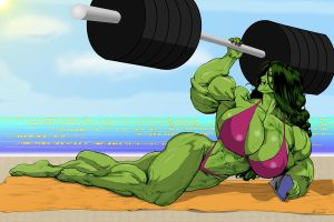 She Hulk Muscle by elee0228