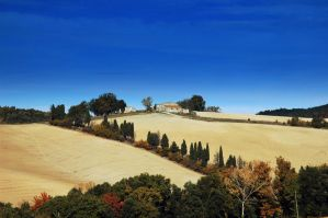 landscape in Italy, Toscana by artismagica