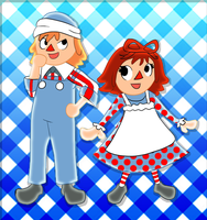 Raggedy Ann and Andy AC Style by Kiwii3364