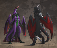 HS - Deathtail and Taranth by Jewel-Thief