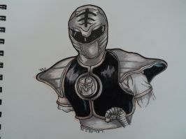 Power Rangers White Ranger:W.I.P by ArtOfTypH