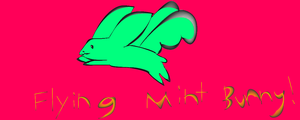 flying mint bunny!!! by catalia13
