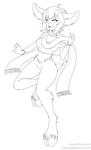 Line Art Sample: Zubrina by padfootlet