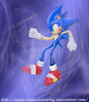 Sonic in another dimension by WodashTheWolf