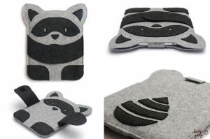 Raccoon from Hooby Groovy Land - iPad Case by hoobygroovy
