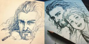 TH : doodle Thorin and Bilbo by noei1984