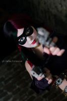 Harley Quinn - Tryin' to make me laugh? by Thecrystalshoe