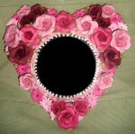 Floral Heart Mirror by HGCreations