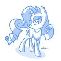 Rarity sketch by ViktorNewman