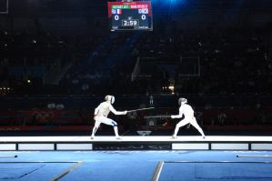 Olympic Women's Team Foil Fencing I by aragornsgirl333