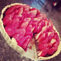 Strawberry tart with chocolate filling 2 by raze36