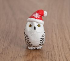 Santa snowy owl totem by lifedancecreations