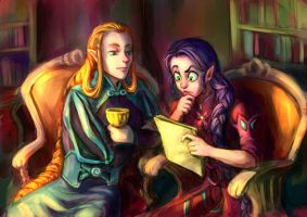 Elf and drow by Ripushko