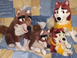 Balto Plushies by snownyuwolf