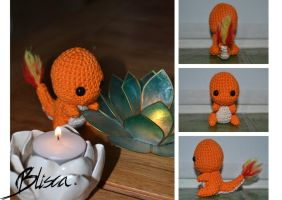 Crochet Charmander by Blisca