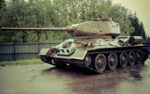 T-34 in rain by FuryMarthy