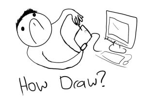 Drawing with a tablet for the first time by antonwe