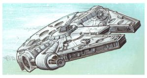 Millenium Falcon Detail by Nick-OG