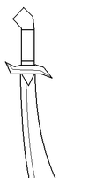 Avien's Thieve's Sword lineart by ToAtoneArt