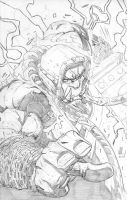 Thrall Warchief Sketch by jonathan-rector