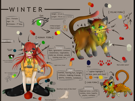 Winter, Character Reference Sheet **UPDATED** by Ryu-chii