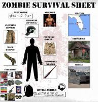 Zombie Survival Sheet by psychorooster