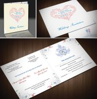 Friend's wedding invitation by Phoenix2609