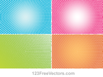 Abstract Colorful Halftone Illustrator Vector Back by 123freevectors