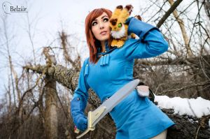 Jessica Nigri Nausicaa by the snow by belziir