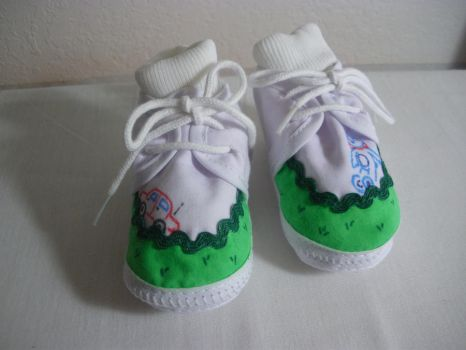 Baby Shoes - Toys and Grass by Sindy-Chan