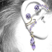 Purple Ear Wrap and Cuff Set v6- SOLD by YouniquelyChic