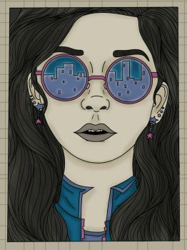 City Glasses Chick by miacooljay
