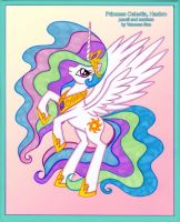 Princess Celestia by vanessasan