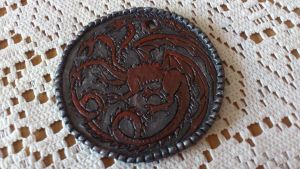 Game of Thrones House Targaryen Pendant by Jantsu18
