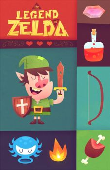 The Legend of Zelda by MattKaufenberg
