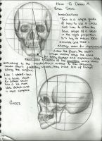 Drawing A Skull (Tutorial) by GyggzyChan